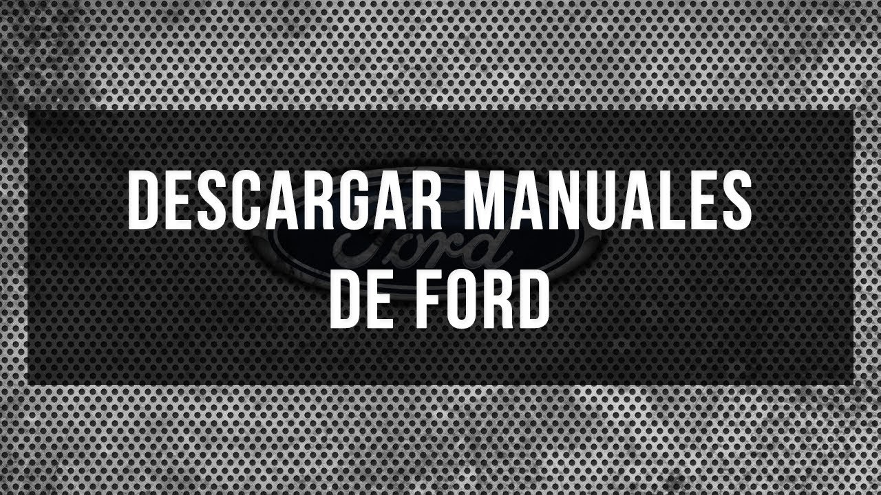 Descargar Manuales De Ford En Pdf Gratis Youtube 1995 Xl 4 9 Engine Diagram