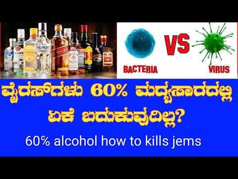 how to alcohol kills bacteria and virus