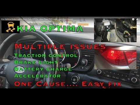 Kia Optima Brake Lights Wont Turn Off Fix Also Fixes Tcs Light