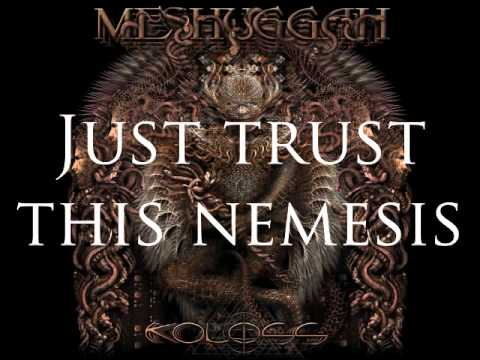 Meshuggah - Demiurge (Lyrics on screen)