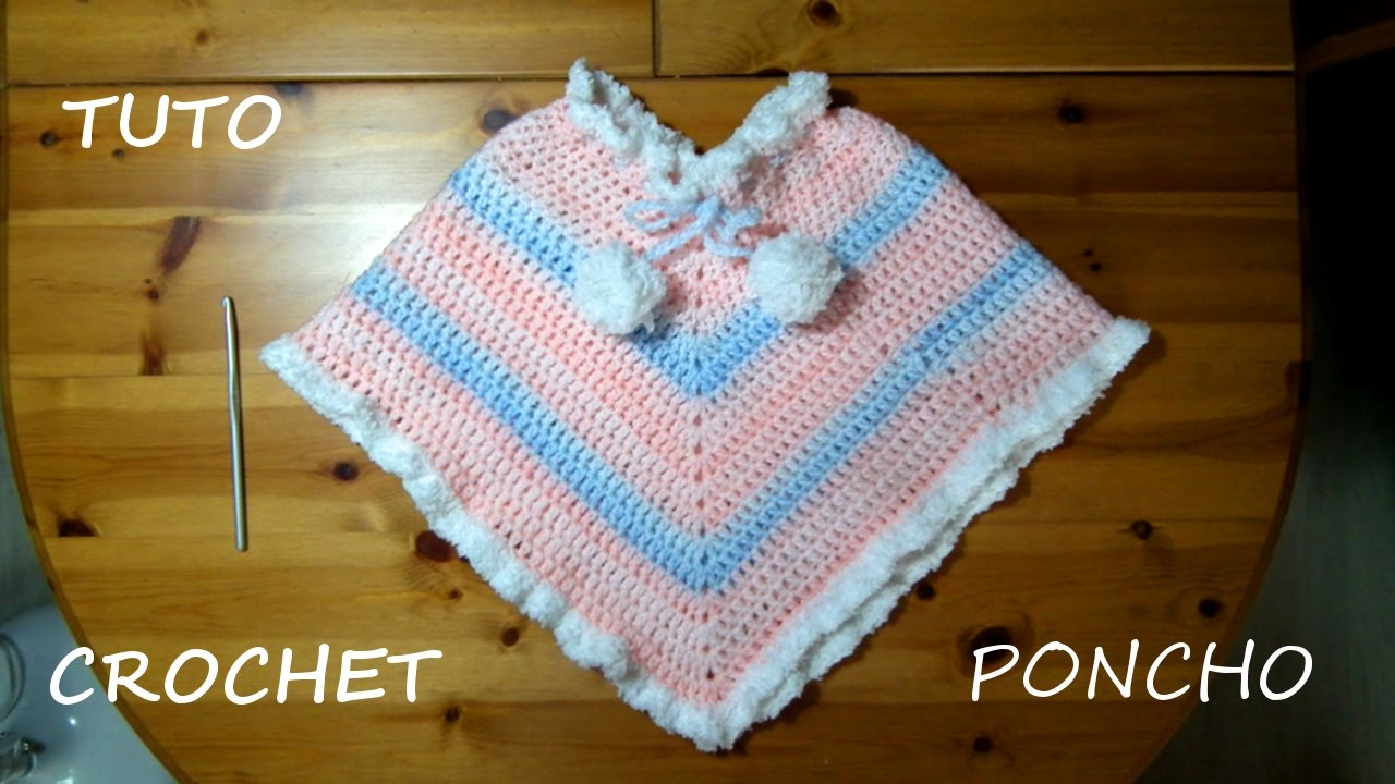 Exceptionnel TUTO CROCHET COMMENT FAIRE UN PONCHO - YouTube QO34