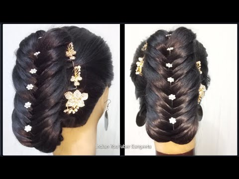 Simple hairstyle for wedding /party || hairstyles for party || hair style girl || hairstyles