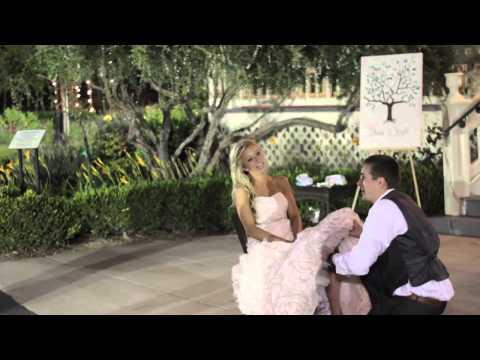 Kayla & Shane Hanson Wedding - Boquet and Garter Toss