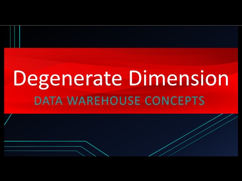 Use of Degenerate Dimension | Data warehouse Concepts