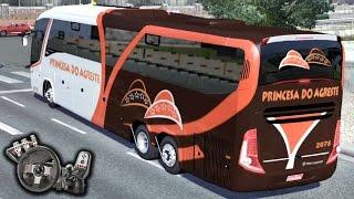 Euro Truck Simulator 2 - Auto Viação Princesa do Agreste - PARTE 2 - Bate papo! - Com Logitech G27
