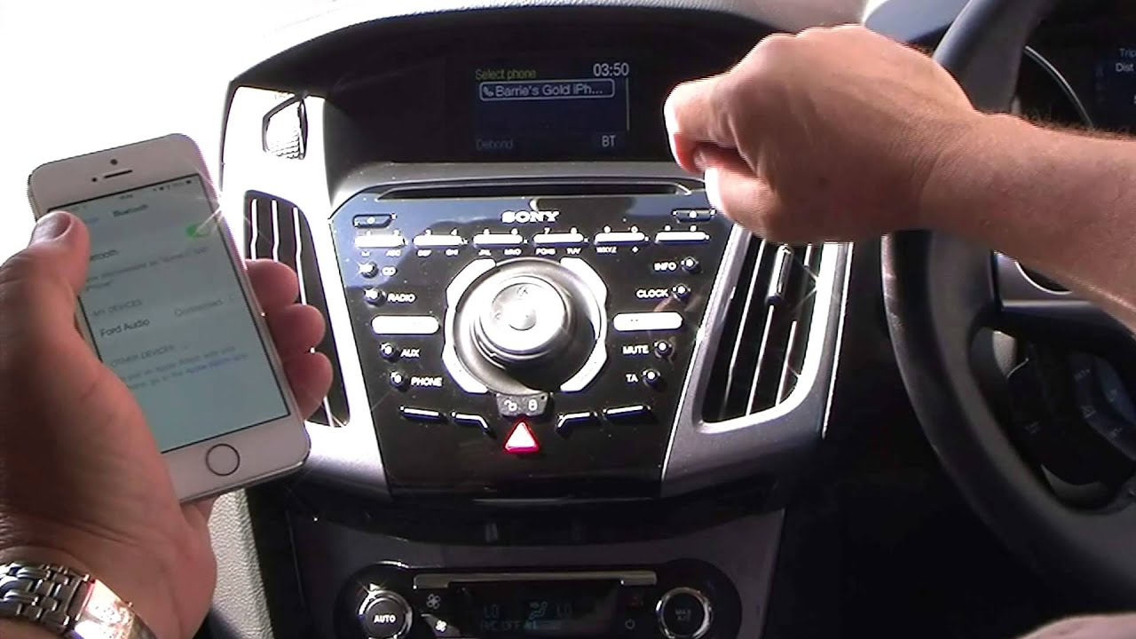 Syncing An Iphone To The Sony Bluetooth System In A Ford