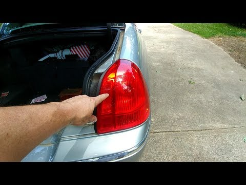 How to replace rear lights / light bulbs on a Lincoln Town Car