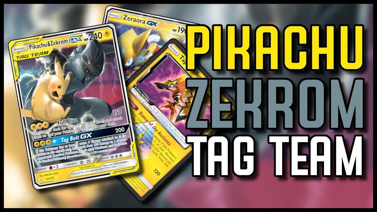 By Far The Best Tag Team Deck Pikachu Zekrom Gx Youtube