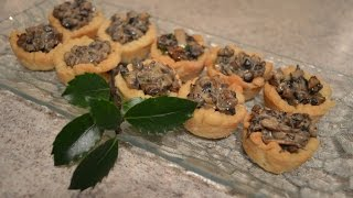 How to Bake Creamy Mushroom Tartlets