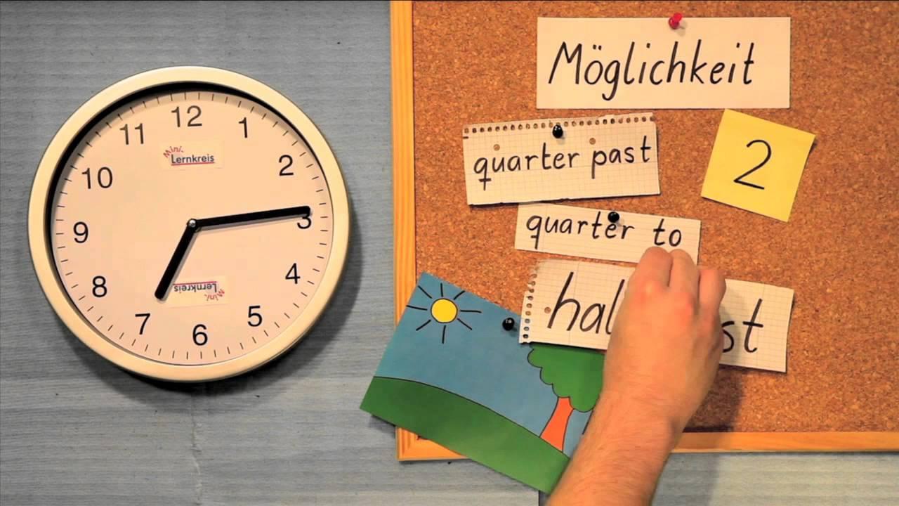 Uhrzeit auf englisch