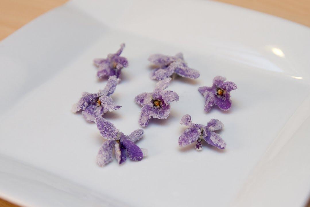 Como Hacer Violetas Escarchadas - YouTube