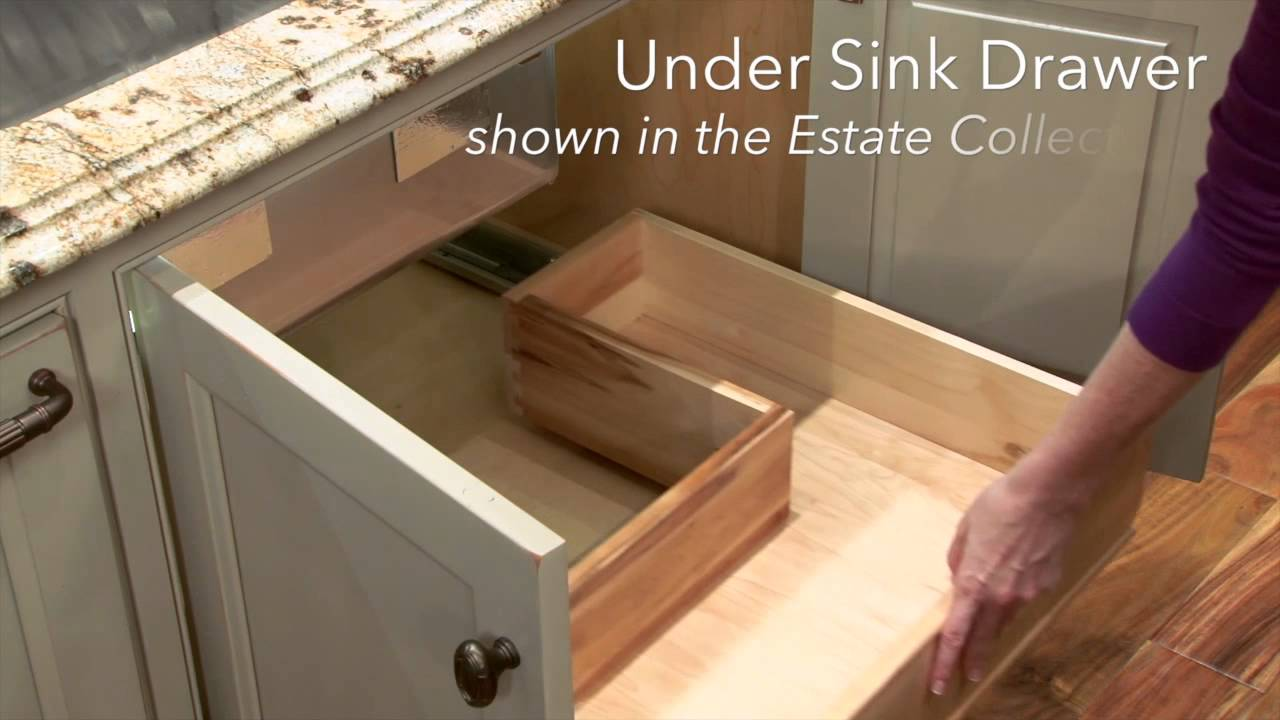 Storage solutions under sink drawer youtube - Bathroom vanity under sink organizer ...