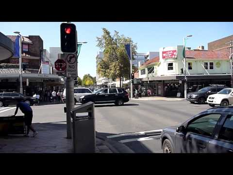 Victoria Ave and Archer Street Intersection Crossing, Chatswood NSW Australia