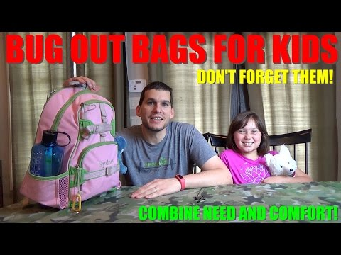 Bug Out Bags for Kids – How to Keep the Little Ones Safe and Comforted