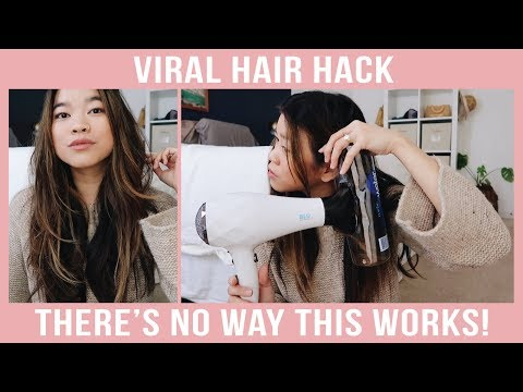 VIRAL WATER BOTTLE HAIR CURLS HACK - Does it actually work?