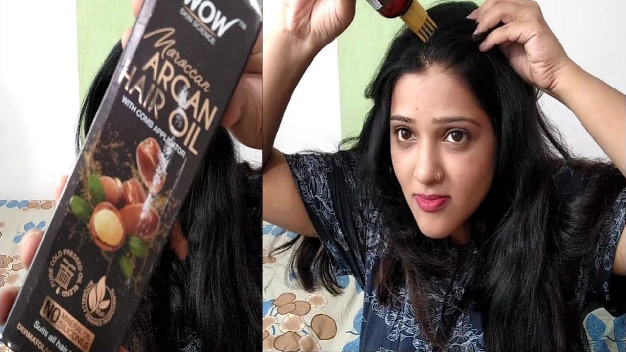 WOW Moroccan Argan Hair Oil For Shiny & Healthy Hair   REVIEW IN HINDI   glam shruti