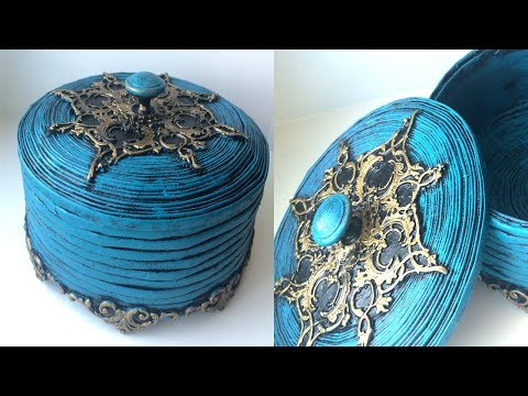 Beautiful box from the newspaper with their own hands | DIY Jewelry Box