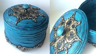 Beautiful box from the newspaper with their own hands   DIY Jewelry Box