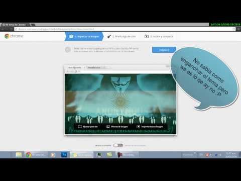 Como crear tu propio tema para Google Chrome 2014