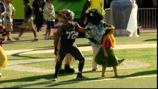 Celebration Station: Michael Bennett Dances With Mascots!   Rice vs. Irvin   NFL Pro Bowl 2016