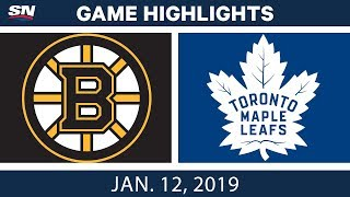 NHL Highlights | Bruins vs. Maple Leafs - Jan. 12, 2019