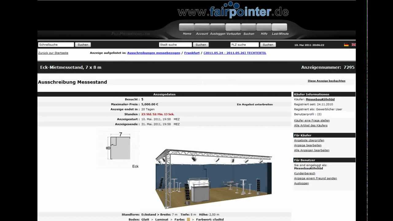 DemoClip fairpointer -Your booth construction directory- english