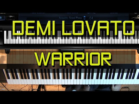 Piano Tutorial - How to Play Warrior by Demi Lovato