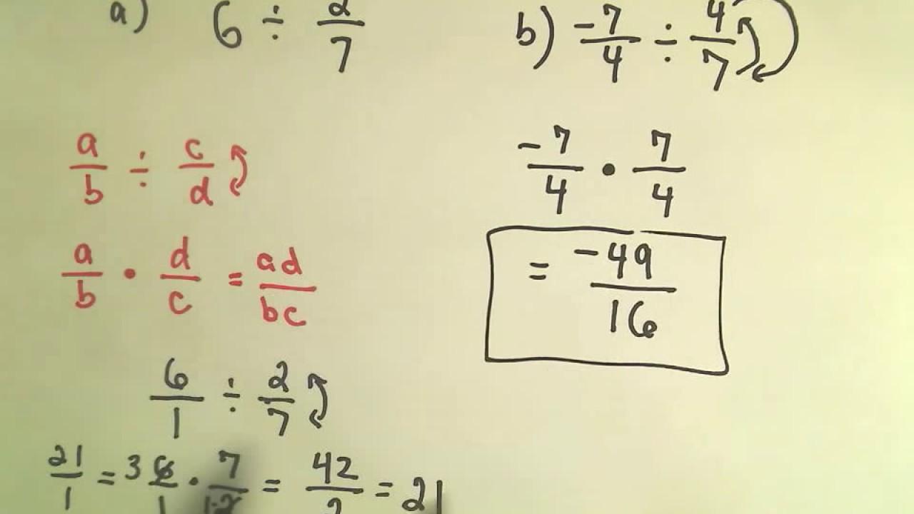 Basic Math: Dividing Fractions - YouTube