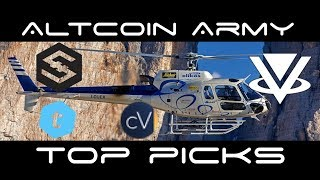 Top Altcoin Army Picks of The Week - IOST, VIBE, CV, TEL