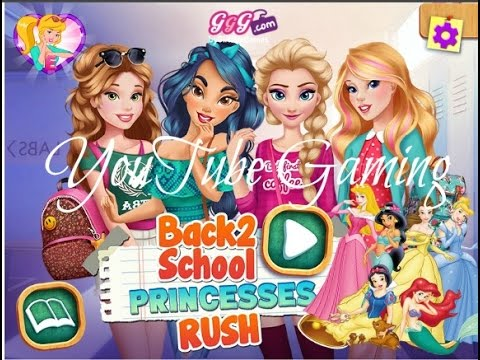 Playing on GGG.com | Back To School: Princesses Rush - YouTube
