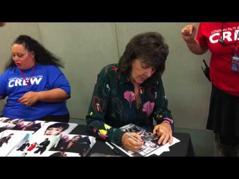 Sarah Douglas signing autographs at lfcc