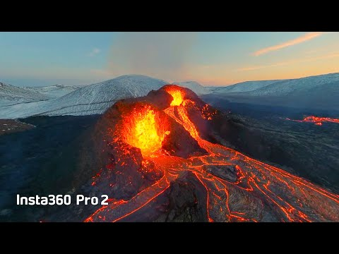 Insta360 VR: Flying Over Iceland Volcano - A Virtual Reality Experience