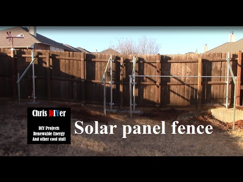 Solar panel fence project update: 54 deg, level, straight, and more concrete poured