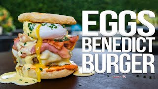 The Best (Eggs Benedict) Breakfast Burger | SAM THE COOKING GUY 4K