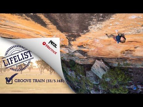 Jorg Verhoeven on Groove Train 8c - Grampians, Australia