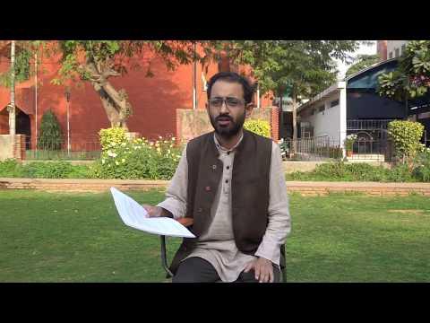 Abhay Kumar talking on Muslim Personal Law at Jamia Millia Islamia