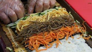 속초에서 유명한 명태회 김밥 / spicy raw po…