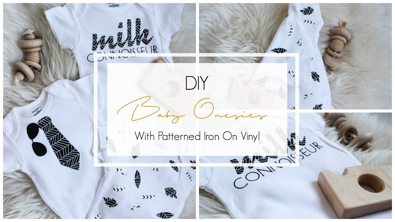 DIY Baby Onesies [with Cricut Patterned Iron On Vinyl ...