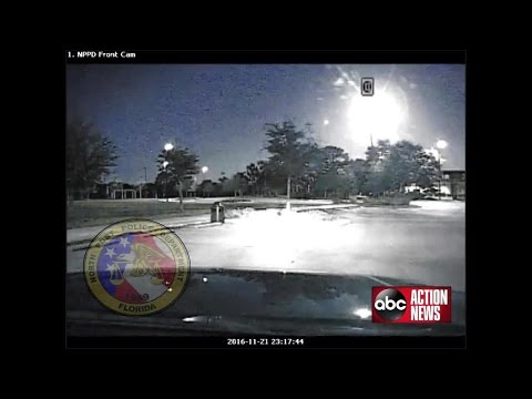 North Port Police dash cams capture fireball in the Florida sky