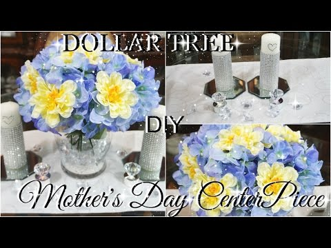 DIY DOLLAR TREE MOTHER'S DAY CENTERPIECE PETALISBLESS🌹