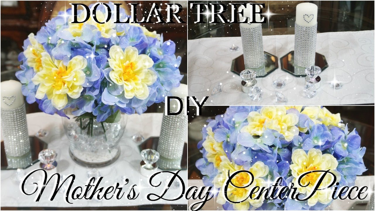 Diy Dollar Tree Mother S Day Centerpiece Petalisbless Youtube