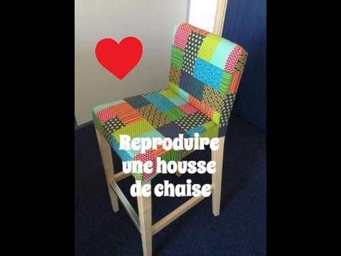reproduire une housse de chaise de bar avec un tissu different couture