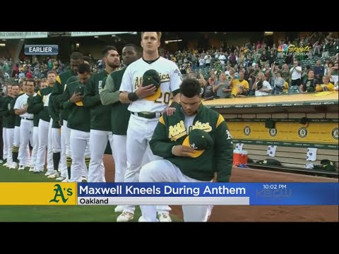 A's Catcher Becomes First MLB Player To Kneel During Anthem