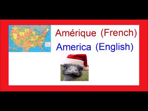 Amérique French PRONUNCIATION OF THE WORD America English