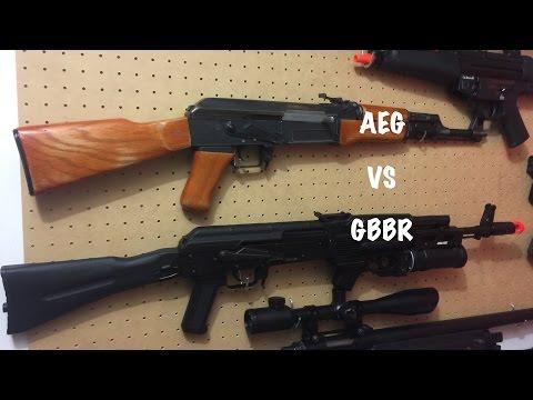 Airsoft Comparison - AEG vs. GBB (Rifles)