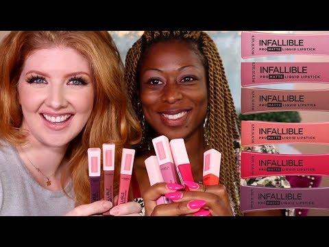 new-drugstore-makeup-review-|-l'oreal-les-macarons-lipsticks