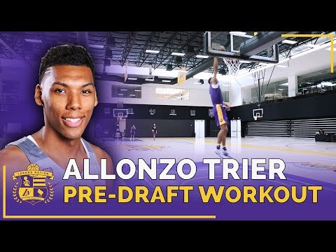 Arizona Guard Allonzo Trier's Lakers Pre-Draft Workout