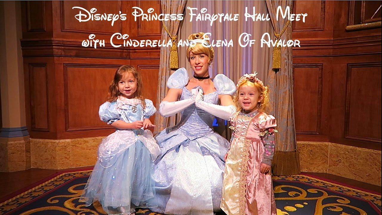 Meeting cinderella and elena of avalor at fairytale hall 2017 meeting cinderella and elena of avalor at fairytale hall 2017 disneys magic kingdom m4hsunfo