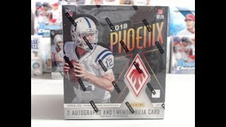 2018 Panini Phoenix Football Hobby Box **4 Hits -Great Box!- Rare Pull**