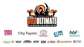 WFDF World Under 24 Ultimate Championship: Germany vs Australia  - Men's